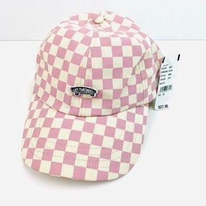 Vans 5 Panel Checkerboard Clasp Back Hat Mauve